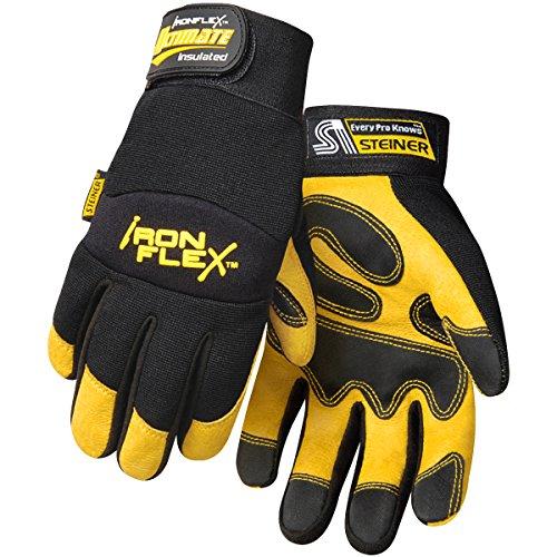 Steiner 0922-M Ironflex Work Gloves, Ultimate Insulated Pigskin,