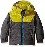 Spyder Boys Mini Clutch Jacket, Size 3, Polar/Sulfur/Electric Blue