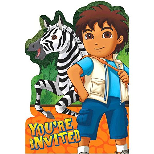Fun Diego's Biggest Rescue Birthday Party Invitations (8 Piece), 4-1/4 x 6-1/4