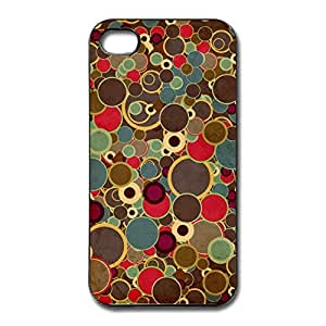 IPhone 4/4s Cases Colorful Round Design Hard Back Cover Cases Desgined By RRG2G wangjiang maoyi