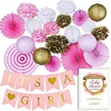 Premium Baby Shower Decorations for Girl Bundle
