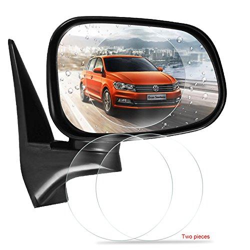 GEEMAI Car Rearview Mirror Protective Film, Anti Fog Film Anti-Glare Anti Mist Anti-Scratch Waterproof Rainproof Rear View Mirror Window Clear Protective ()