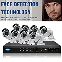OWLTECH 16 Channel Face Detection 5MP NVR with preinstall 4TB HDD - 8 x 4MP 3.6mm IP Bullet Camera with Built in Microphone plus 100ft Cable and Accessories