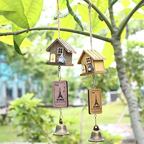 Silver Dresser N Mirror (Wooden House Japanese Totoro Garden Outdoor Decor Wind Chime Bell Chimes Is A Mascot, Symbol Of Good Luck Suitable For Home,garden,room And Anywhere You Like.)