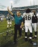 Signed Jack Del Rio Picture - Jacksonville Jaguars 8x10 - PSA/DNA Certified - Autographed NFL Photos