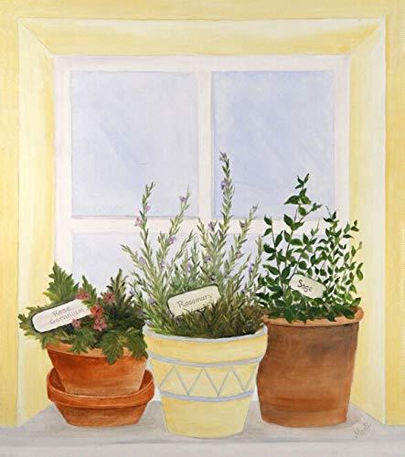 Herbs in Window Custom Dishwasher Cover