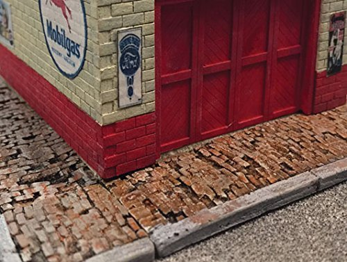 WEATHERED BRICK SIDEWALK -- 60 SCALE FEET LONG for sale  Delivered anywhere in USA