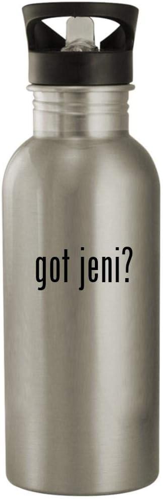 got jeni? - 20oz Stainless Steel Water Bottle, Silver