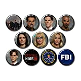 Criminal Minds 11 pcs Button Fridge Magnets Set Pack TV Series 271-P003 Penelope Garcia Dr Spencer Reid,Party Favors Supplies Gifts Home Decor (Round 1.5 inch|3.7cm)