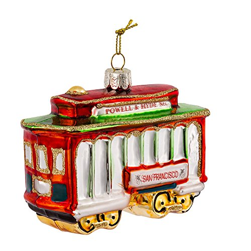 (Kurt Adler Glass San Francisco Cable Car Ornament)