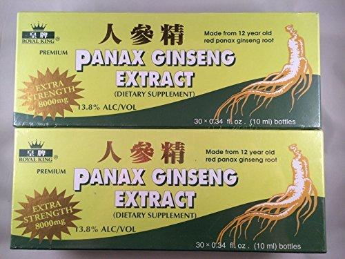 Royal King - Red Panax Ginseng Extract 8000mg (30 Vials X 10ml) - 2 Boxes by Royal King