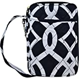 quilted small wallet - Geometric Vine Pattern Print NGIL Quilted Wristlet Wallet