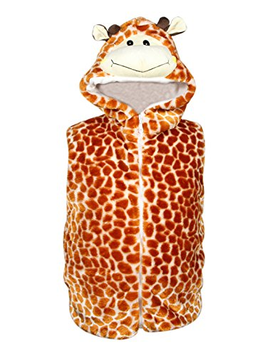 Bioterti Kids' Animal Hooded Vest for Dress Up/with Pockets/Manufacture/ 16 Amazing Styles (Small, Giraffe) -