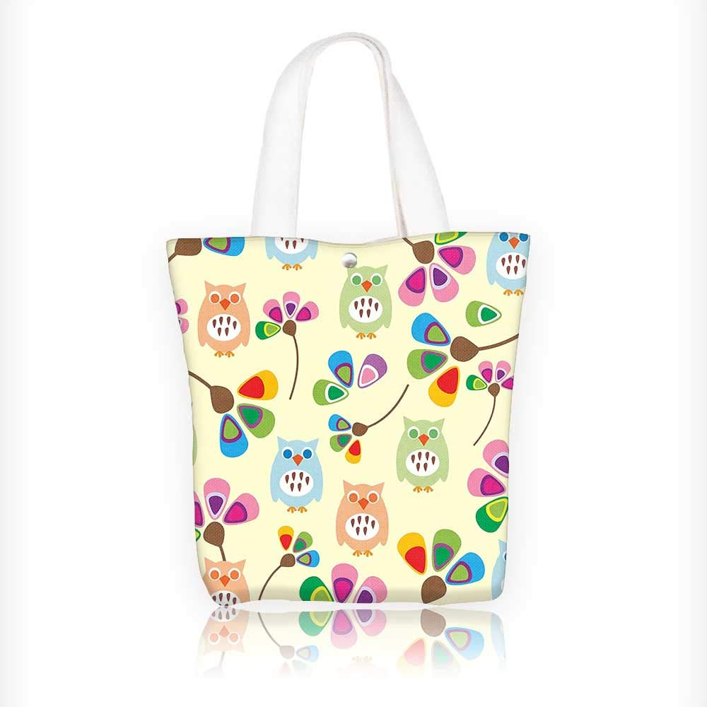 Reusable Cotton Canvas Zipper Bag Coffee InspiredMugs Cups Print Tote Laptop Beach Handbags W11xH11xD3 INCH Auraisehome FBB-fok-0821-02441K28xG28xD8