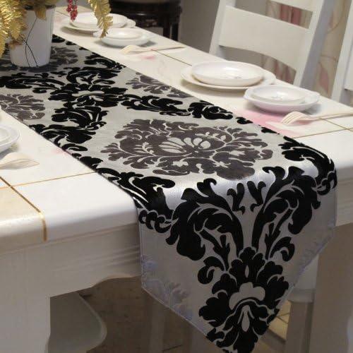 Diaidi camino de mesa camino de mesa bordado, diseño de damasco ...