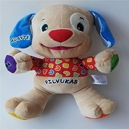 WATOP Stuffed Animals - Teddy Bears | Lithuanian Latvian Portugues Russian Speaking Singing Musical Dog Doll Baby boy Educational Stuffed Toys (Lithuanian Boy-)