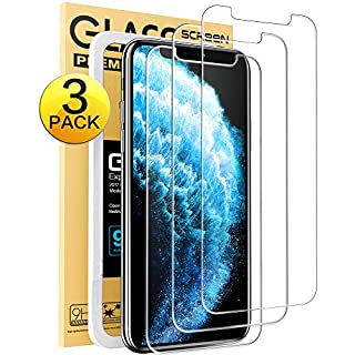 """Mkeke Compatible with iPhone 11 Pro Max Screen Protector, iPhone Xs Max Screen Protector Tempered Glass [3 Pack][6.5""""]"""