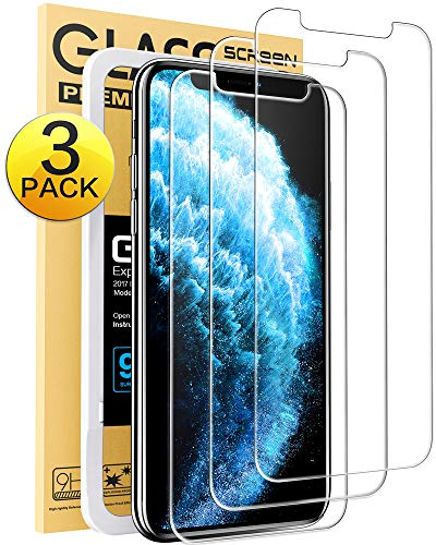 Mkeke Compatible with iPhone 11 Pro Max Screen Protector, iPhone Xs Max Screen Protector, Tempered Glass Screen Protector for iPhone 11 Pro Max & XS Max (Best Tempered Glass Screen Protector For Iphone X)