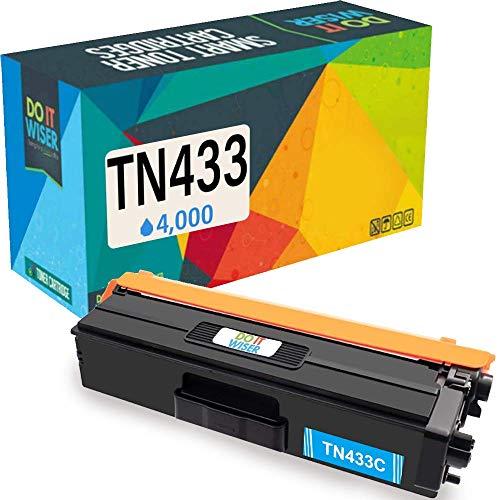 Do it Wiser Compatible Toner Cartridge Replacement for TN433C TN-433C TN431C Brother MFC L8900CDW HL-L8360CDW L8260CDW MFC-L8610CDW L9570CDW HL-L9310CDW (4,000 Pages) Cyan
