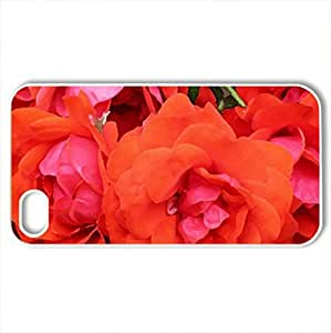 Roses - Case Cover for iPhone 4 and 4s (Flowers Series, Watercolor style, White)