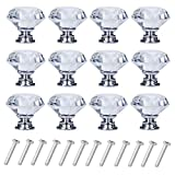 YourGift 12 Pack Drawer Knobs Diamond Shaped