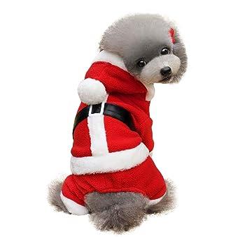 Iris Sprite Ropa para Perros, Lindo Perro Trajes De Navidad Sudaderas con Capucha Ropa para