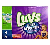 Health & Personal Care : Luvs Super Absorbent Leakguards Diapers, Size 4, 76 Count