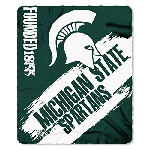 Northwest COL 031 NCAA Michigan State Spartans Painted Printed Fleece Throw Blanket, 50