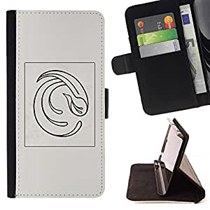 Momo Phone Case / Flip Funda de Cuero Case Cover - Resumen Pluma Gris Poster Vórtice - Samsung Galaxy S4 IV I9500