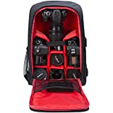 G-raphy Camera Backpack Waterproof by for DSLR/SLR Cameras (Canon, Nikon, Sony and etc), 17 Laptops, Tripods, Flashes, Lenses and Accessories (Red)