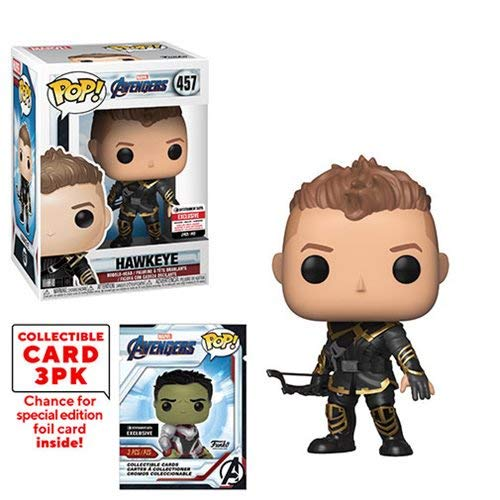 Funko Pop! Marvel Avengers: Endgame Hawkeye Vinyl Figure with Collectible Cards - Entertainment Earth Exclusive