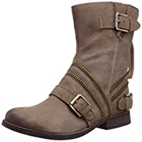 Naughty Monkey Women's Motomoto Boot, Taupe, 6 M US