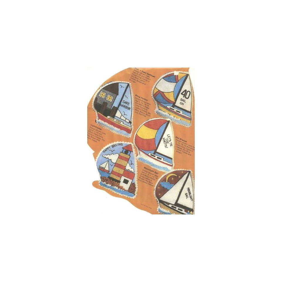 Wilton Cake Pan Sailboat/Lighthouse/Snug Harbor (502 3983, 1984)