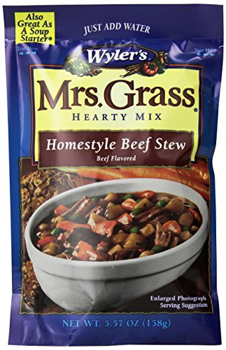 UPC 041258228198, Mrs. Grass Hearty Soup Mix, Homestyle Beef Stew, 5.57 Ounce