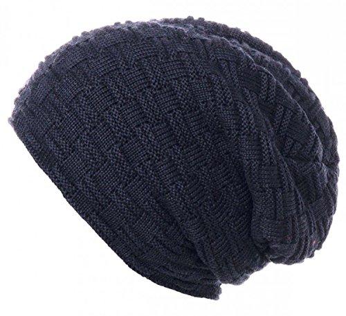 THENICE Bonnet Hiver Chapeau tricoté Homme Beanie Hats (Bleu Marine)  Amazon.fr Vêtements et accessoires