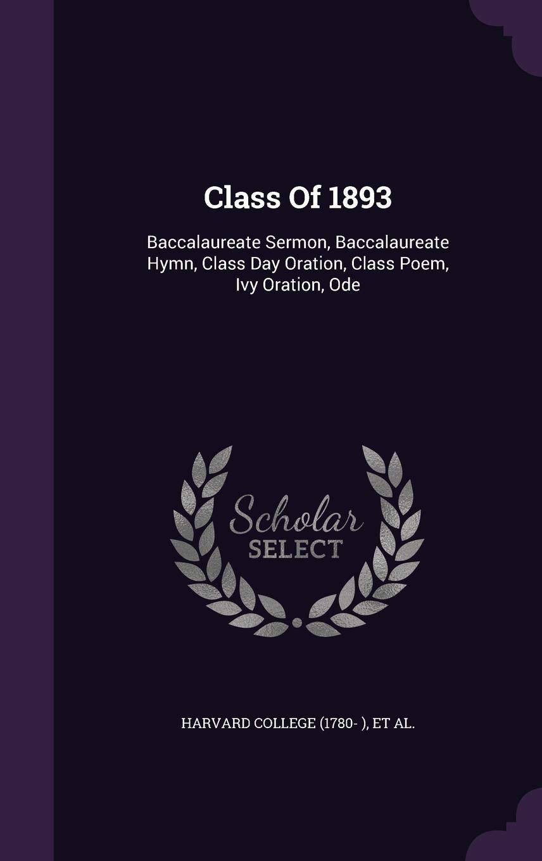 Buy Class Of 1893 Baccalaureate Sermon Baccalaureate Hymn