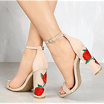 Donyyyy Sandales talon Gros, sandales, sandales, chaussures pour femmes