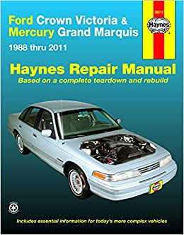 Ford Crown Victoria & Mercury Grand Marquis (88-11) (all fuel-injected  models) Haynes Repair Manual (Does not include Mercury Marauder, 5.8L V8  engine or natural gas-fueled.): Freund, Ken: 9781620921951: Amazon.com:  BooksAmazon.com