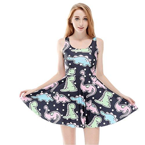 Una Digital Printing Dinosaur ABDL DDLG Dress Cute