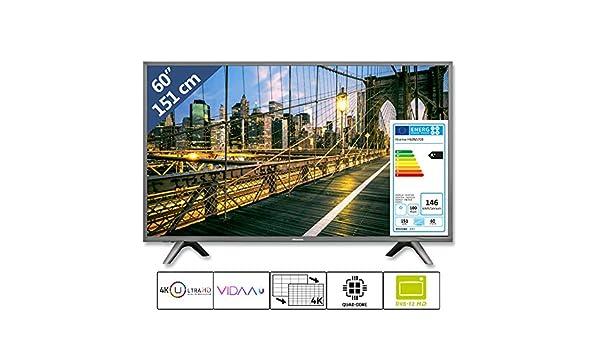 Hisense H60N5708 - Televisor LED de 60 Pulgadas (151 cm, 4K, Ultra ...