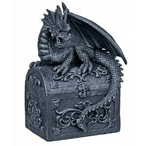 Stone Effect Dragon Resting on Treasure Chest Money Box  sc 1 st  Amazon UK & Stone Effect Dragon Resting on Treasure Chest Money Box: Amazon.co ... Aboutintivar.Com