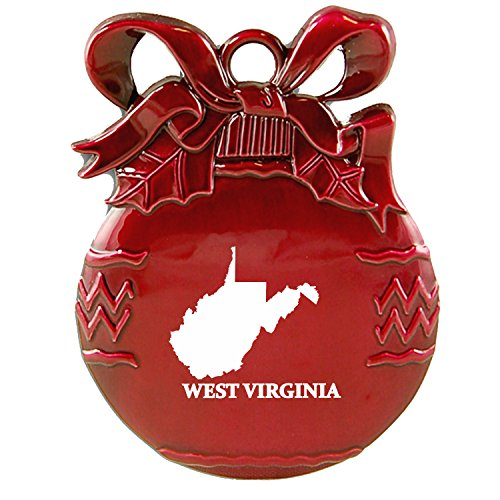 Outline-Christmas Tree Ornament-Red ()