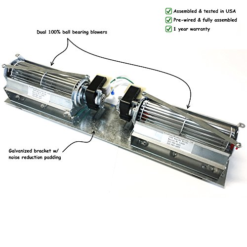 RCFK Fireplace Blower for Majestic Wood Fireplaces (Wood Fireplace Burning Blower)