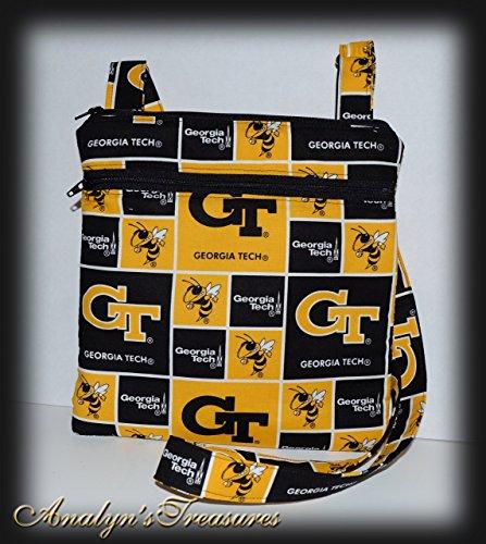 - Georgia Tech Quilted Crossbody Bag, Double Zippered Bag, Hipster Bag, Travel Bag, Passport Bag, Crossbody Purse, Hipster Purse, Quilted Bag, Or Choose Other Theme