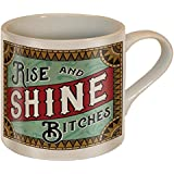Rise and Shine Bitches Coffee Mug - Ceramic Mug by Trixie & Milo - Comes in a fun Gift Box