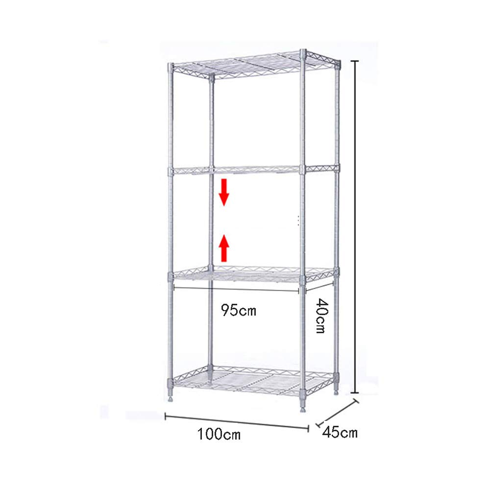 HUO Storage Rack 10045CM Kitchen Floor Rack Storage Rack (Size : 120A) by Kitchen shelf (Image #4)
