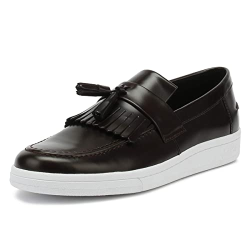 Fred Perry George Cox Mujer Ox Blood Burdeos B721 Tassel Loafer-UK 8: Amazon.es: Zapatos y complementos