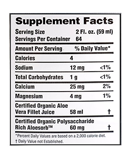 Lily of the Desert Preservative Free Organic Inner Fillet Aloe Vera Juice, 128 Ounce - Supports Health Digestion by Lily Of The Desert (Image #4)