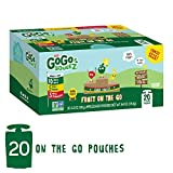 GoGo SqueeZ Applesauce on the Go, Variety Pack (Apple Apple/Apple Banana/Apple Strawberry), 3.2 Ounce Portable BPA-Free Pouches, Gluten-Free, 20 Total Pouches