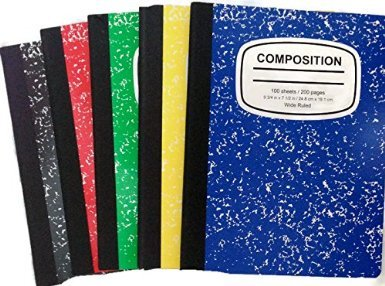 Marbled Composition Notebooks College Ruled 100 Pages 5 Color 5 Pack